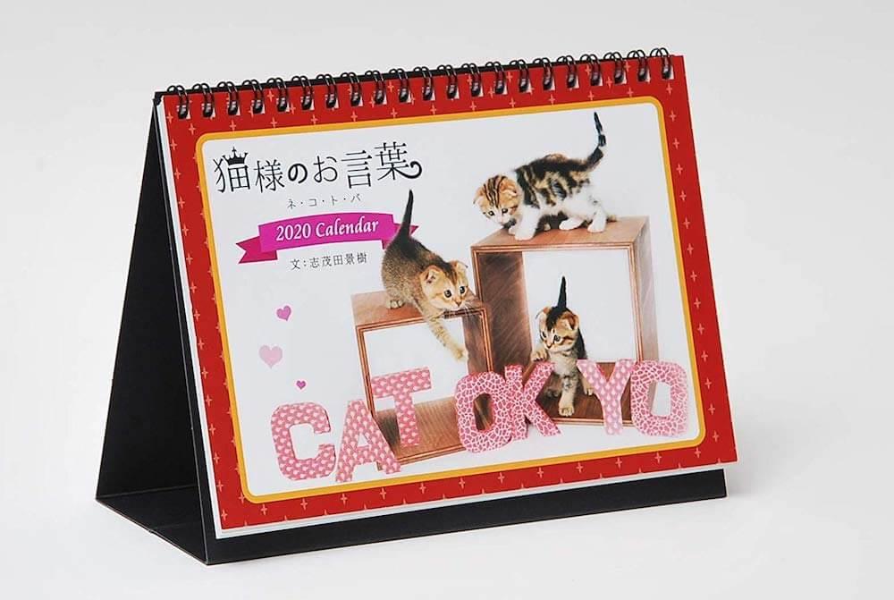 志茂田景樹さんの子猫カレンダー「猫様のお言葉 ネ・コ・ト・バ2020」の製品イメージ