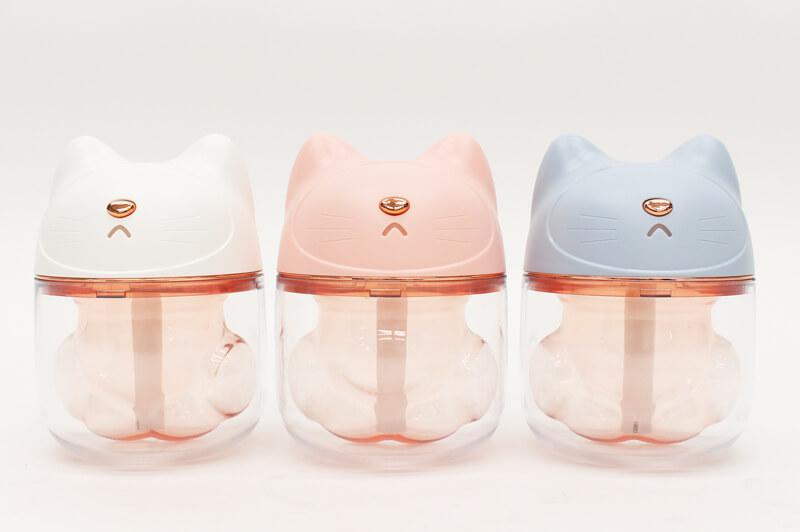 ネコの肉球型ミニLED加湿器(全3色)