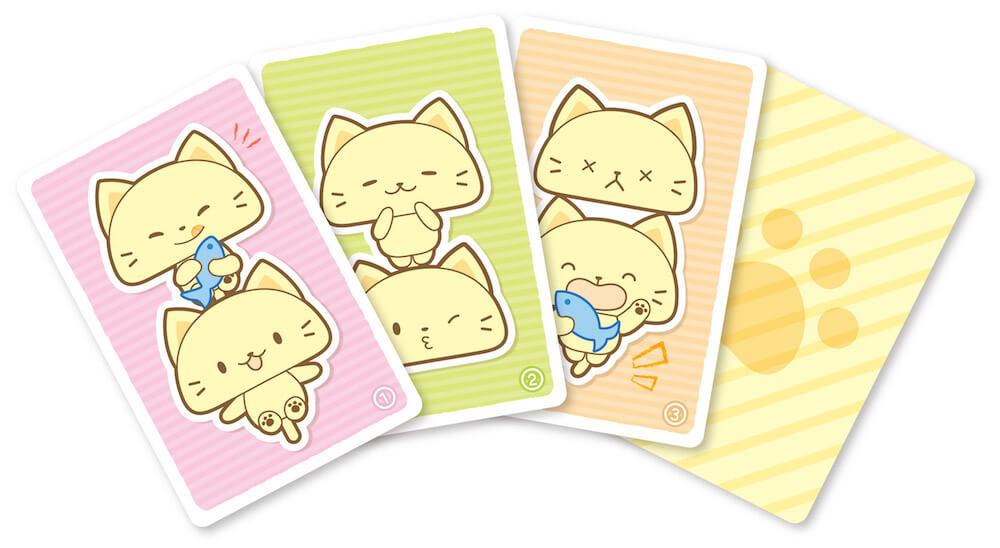 ゲーム「カードde神経衰弱」で使用するカード by 玩具「ねこ釣りゲーム そろえて!にゃんこ!」