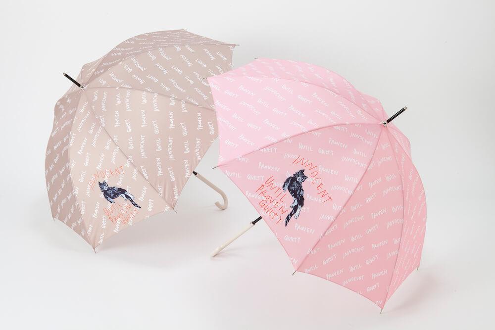 INNOCENT CAT(イノセントキャット) の傘(ブラウン/ピンク) by PAUL & JOE ACCESSOIRES(ポール & ジョー アクセソワ)