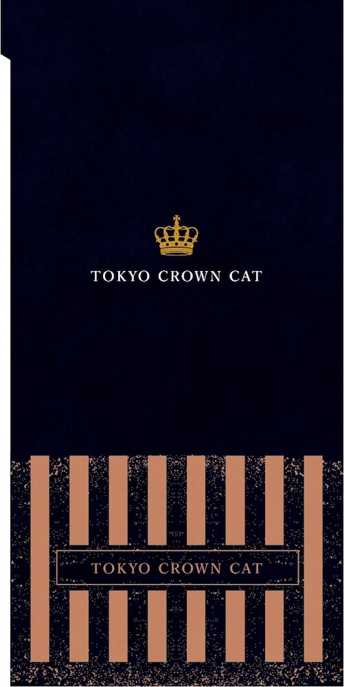TOKYO CROWN CATのノベルティグッズ、キジトラ猫「Mr.TORAKICHI」のチケットフォルダー(裏面イメージ)