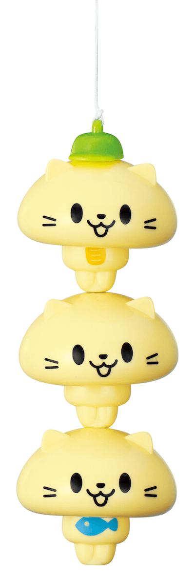 3つ繋げて「にゃんこ」を釣り上げたイメージ by 玩具「ねこ釣りゲーム そろえて!にゃんこ!」の製品使用イメージ