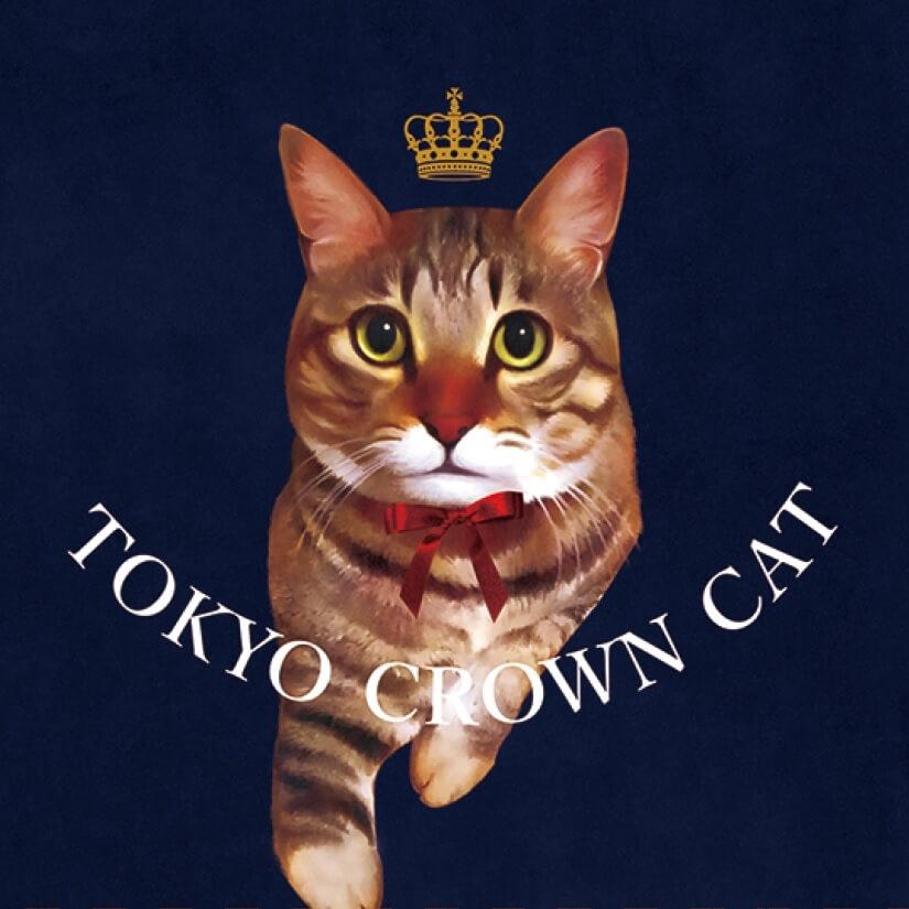 TOKYO CROWN CAT(トウキョウ クラウン キャット)のマスコットキャラクター、キジトラ猫の「Mr.TORAKICHI」