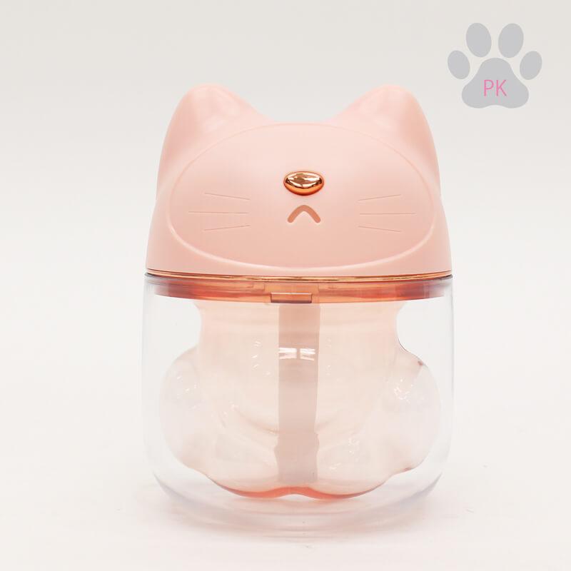 ネコの肉球型ミニLED加湿器 ピンクカラー