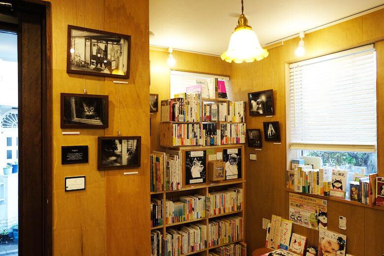 Cat's Meow Books(キャッツ ミャウ ブックス)で開催中の関由香さんの個展、『猫と喫茶店』展の開催風景