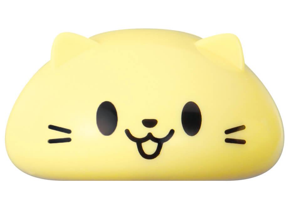 釣り上げる対象となる猫の人形(顔だけにゃんこ) by 玩具「ねこ釣りゲーム そろえて!にゃんこ!」