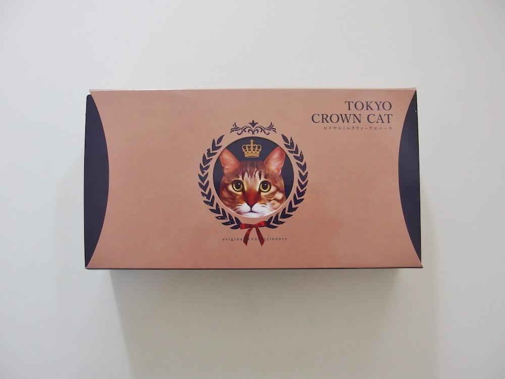 TOKYO CROWN CATの「ロイヤルミルクティーウエハース」製品パッケージ