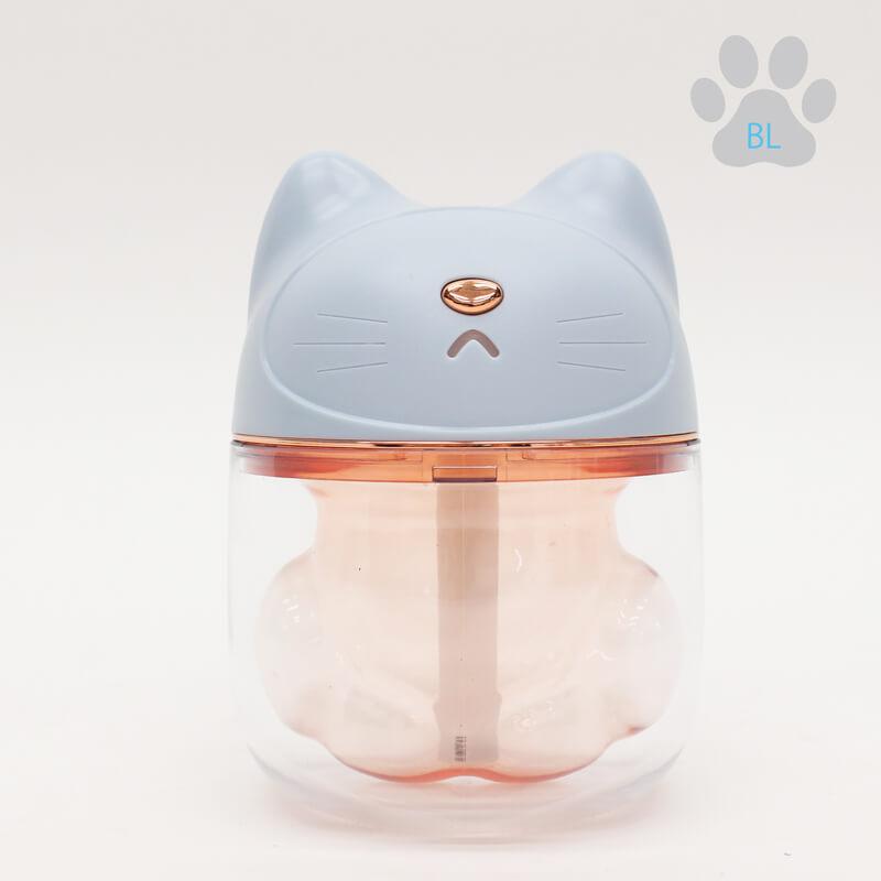 ネコの肉球型ミニLED加湿器 ブルーカラー