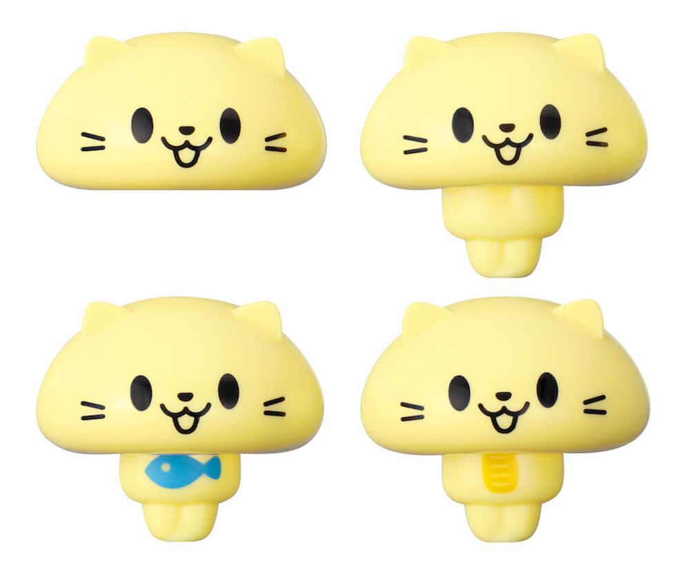 全4種類の猫の人形 by 玩具「ねこ釣りゲーム そろえて!にゃんこ!」