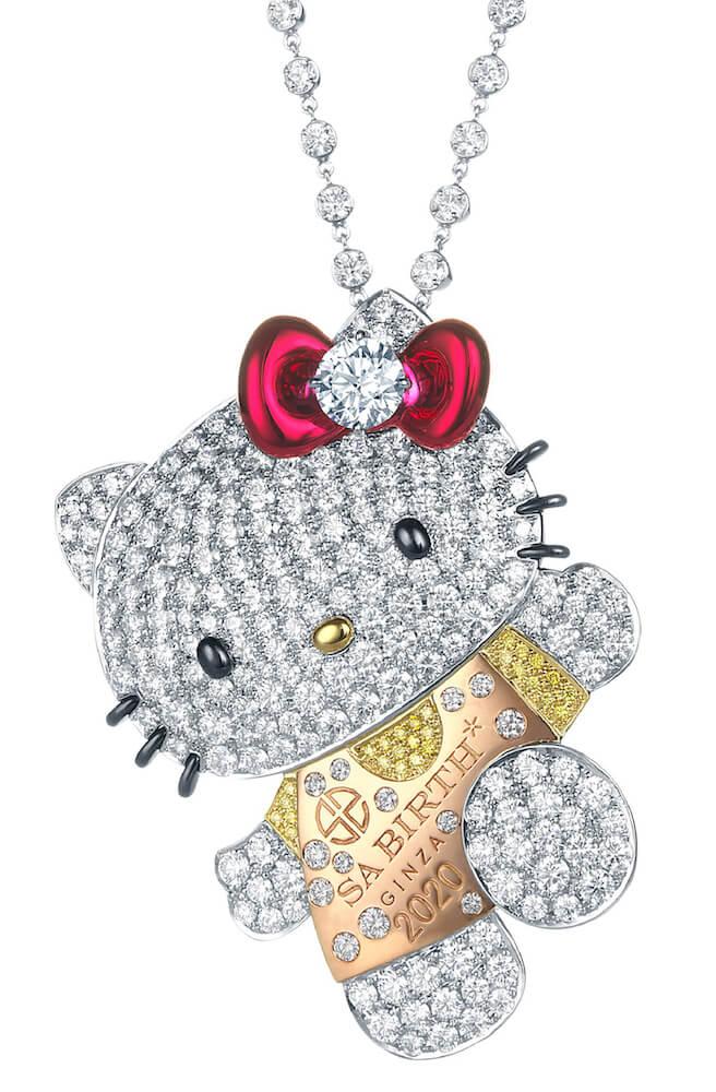 ハローキティのダイヤモンドジュエリー表面のイメージ by SA BIRTH GINZA(サバース銀座)