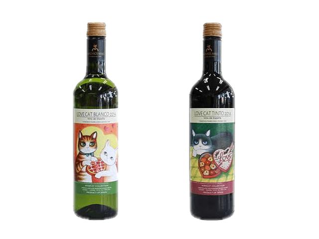 プレゼント企画の猫ワイン ボトルイメージ