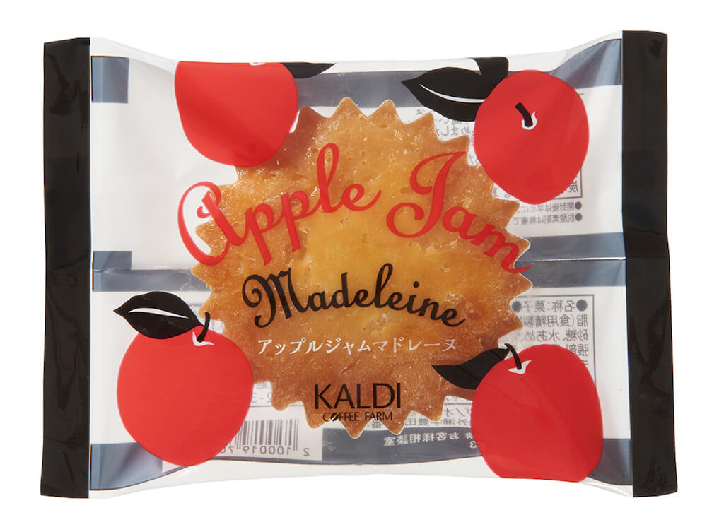 カルディのオリジナル商品、アップルジャムマドレーヌ