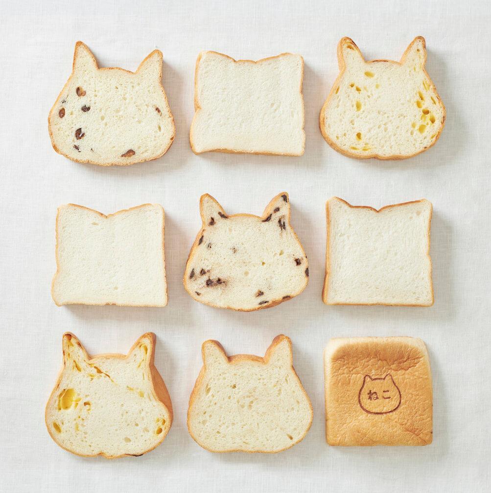 高級食パン専門店「ねこねこ食パン」の商品ラインナップ