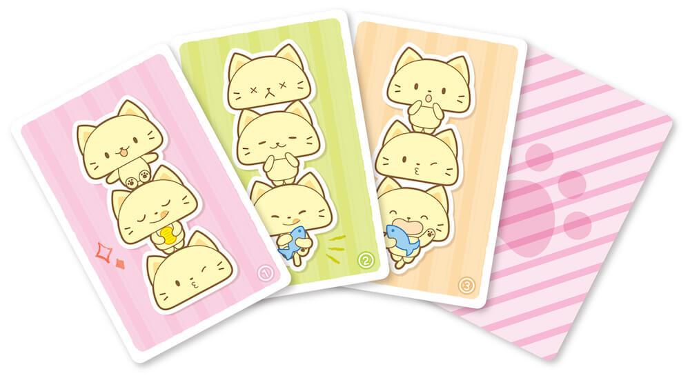 ゲーム「そろえてにゃんこ」で使用するカード by 玩具「ねこ釣りゲーム そろえて!にゃんこ!」