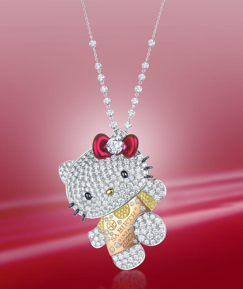 チェーンの長さを調整できるハローキティのダイヤモンドジュエリー by SA BIRTH GINZA(サバース銀座)