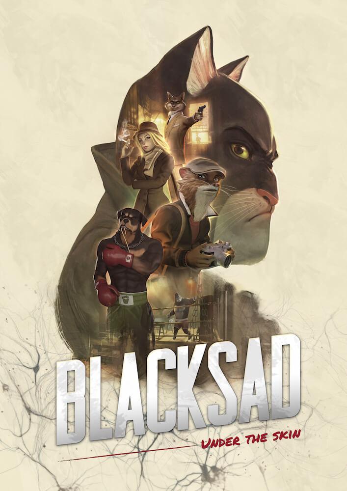 黒猫の探偵が謎を解いていくゲームBLACKSAD: UNDER THE SKIN(ブラックサッド アンダー ザ スキン)製品パッケージ