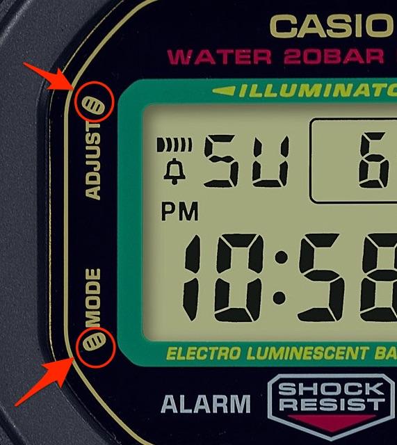 腕時計のフェイス部分に小判がデザインされたG-SHOCK(ジーショック)の招き猫モデル「MANEKINEKO(まねきねこ)」DW-5600TMN-1JR ブラックカラー