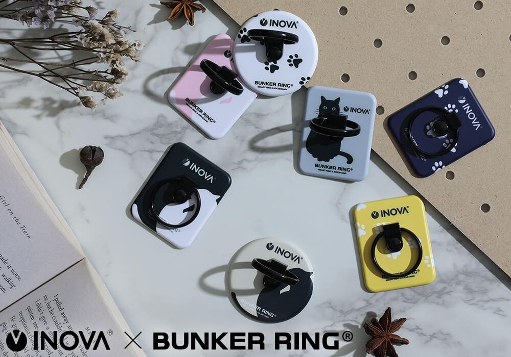 猫デザインのスマホバンカーリング「INOVA BUNKER RING」