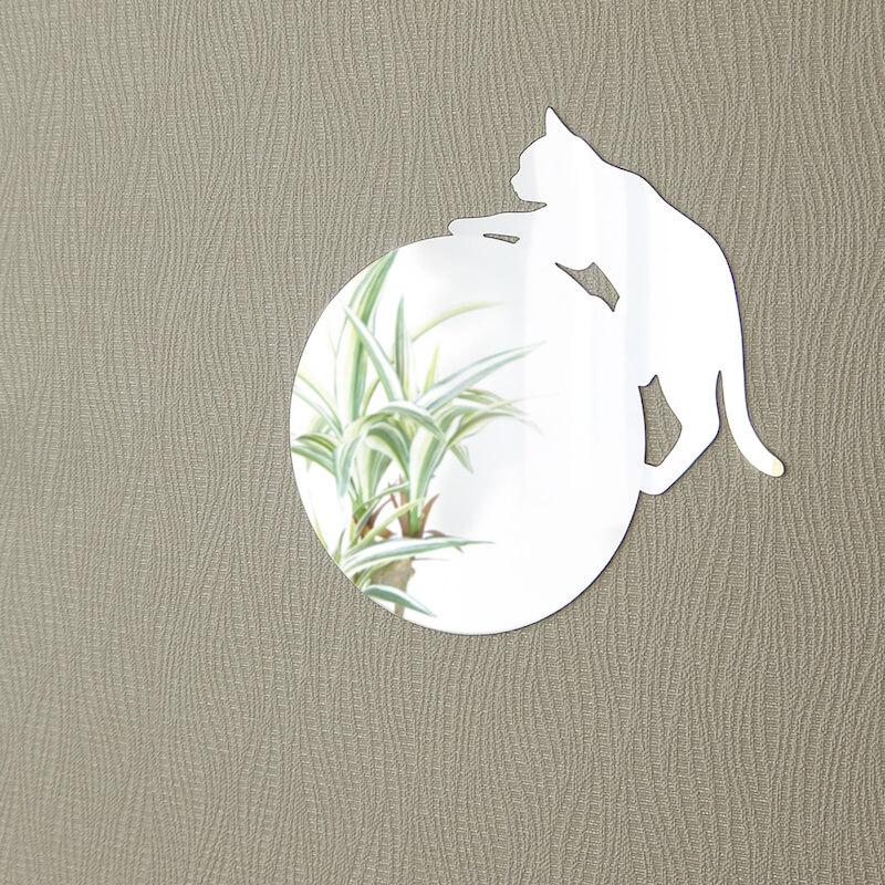 猫が壁を登っているように見えるミラー