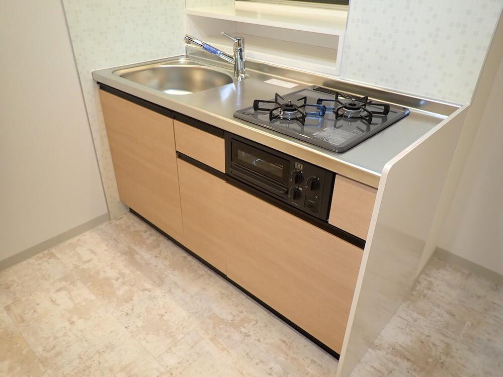 目黒の猫共生住宅「ねことすまふ」のキッチン