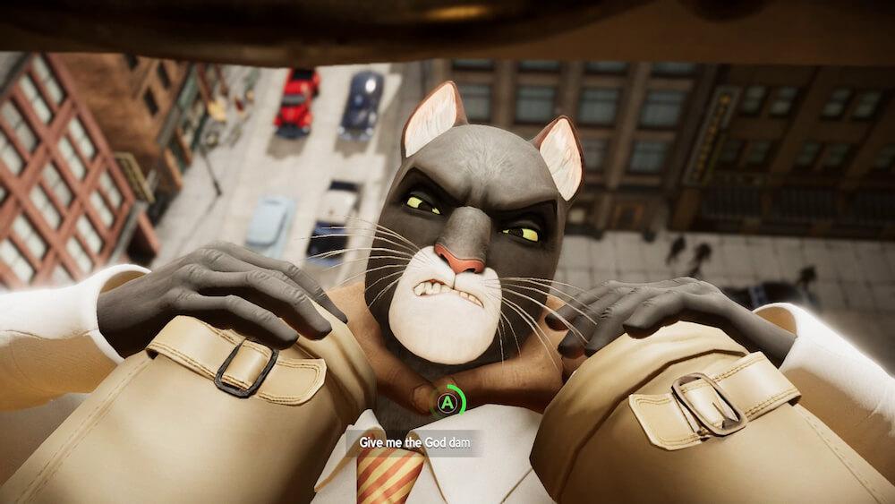 ビルから落とされそうになる黒猫探偵のジョン・ブラックサッド by BLACKSAD: UNDER THE SKINのゲーム画面イメージ