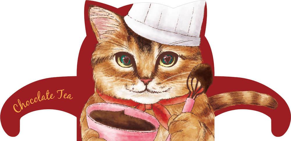 猫型ティーバッグタグ「チョコ(♂) ソマリ」 by スウィートキャットカフェ(チョコレートティー)