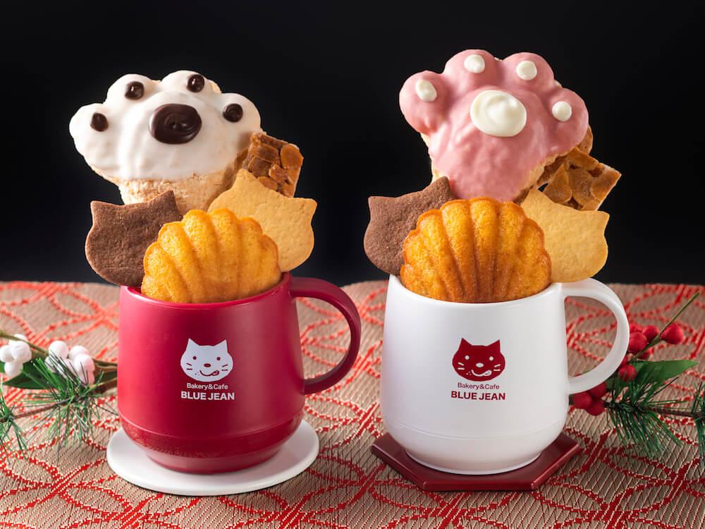 ベーカリー&カフェ ブルージンの「新春いろねこ紅白マグ」 商品イメージ