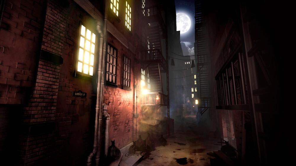 1950年代のニューヨークの夜の町並み by BLACKSAD: UNDER THE SKINのゲーム画面イメージ