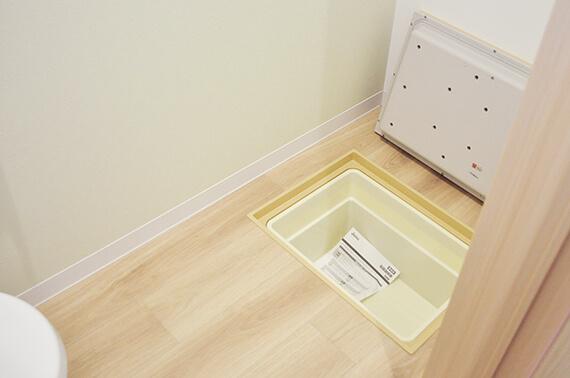 トイレの室内には猫砂を置ける床下収納スペース「ワコーレヴィアーノ高丸 猫の家」