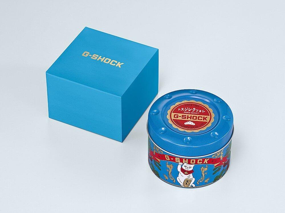 G-SHOCK(ジーショック)の招き猫モデル「MANEKINEKO(まねきねこ)」の製品パッケージ designed by BlackEyePatch(ブラックアイパッチ)