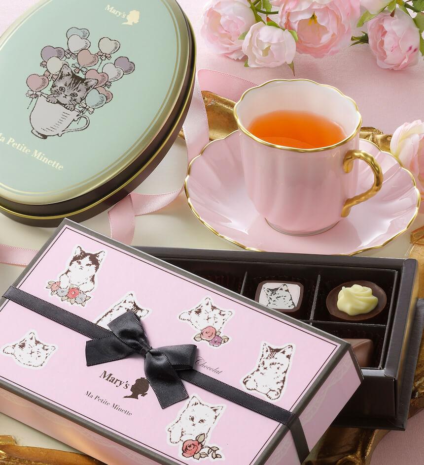缶や箱の容器に入った子猫のチョコレート「マ プティット ミネット~Ma Petite Minette~」