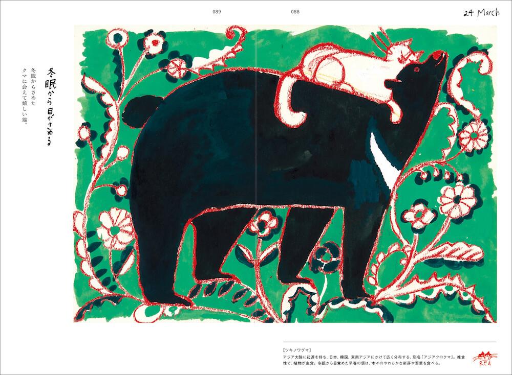 「ツキノワグマ」のページ by トラネコボンボンの365日 猫と世界どうぶつ記