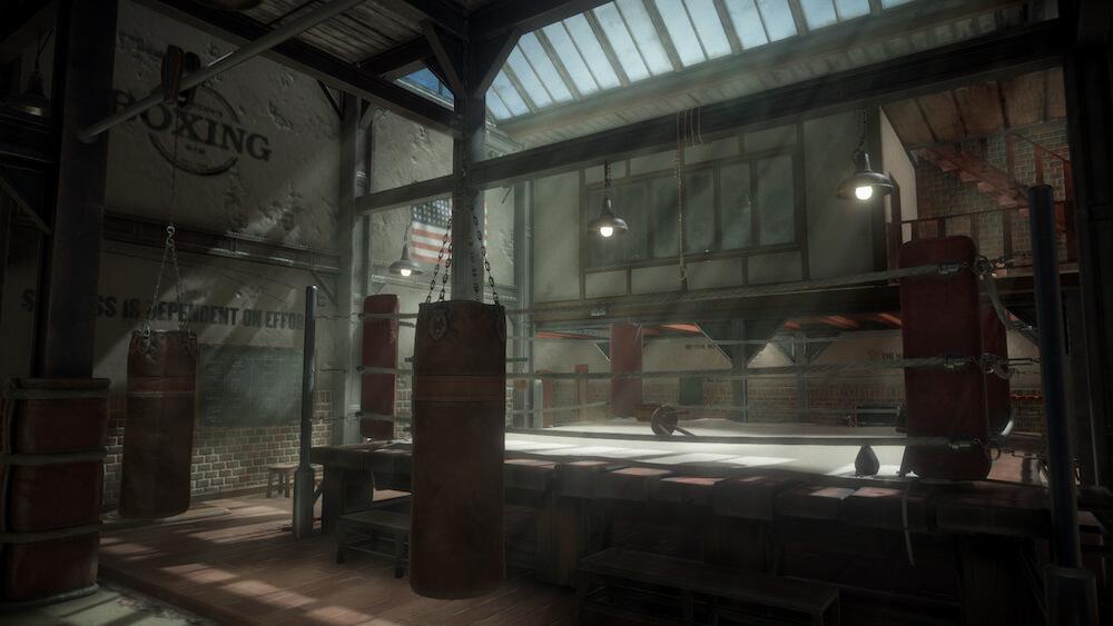 物語のきっかけとなったボクシングジムの施設内部 by BLACKSAD: UNDER THE SKINのゲーム画面イメージ