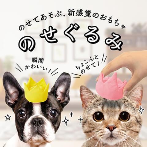 ペット向け衣装「のせぐるみ」を装着した犬と猫