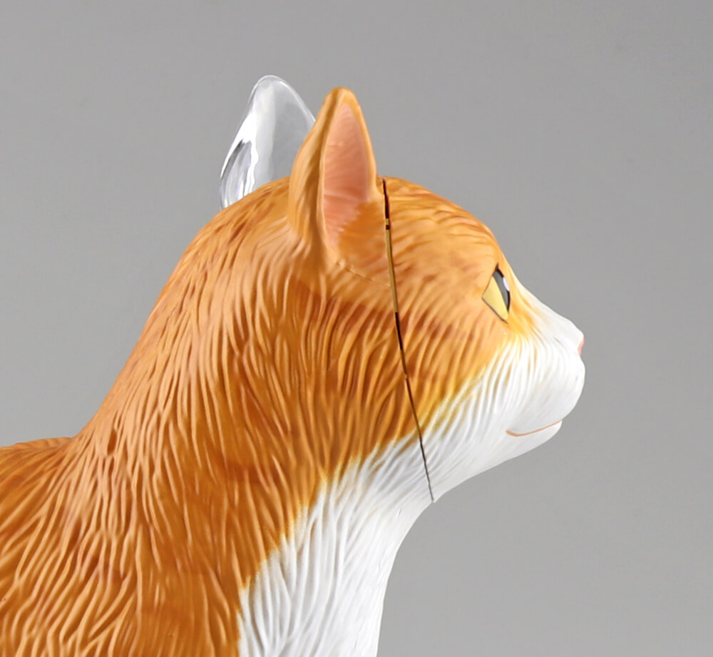 立体パズル 猫の解剖モデル「茶トラ白バージョン」の顔イメージ(拡大図) by 4D VISION