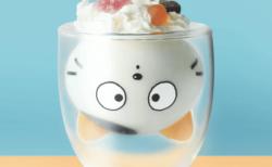 ミルクを注ぐと懐かしの猫キャラ「タマ」が現れる…!ネコ好き向けのダブルウォールグラスが登場