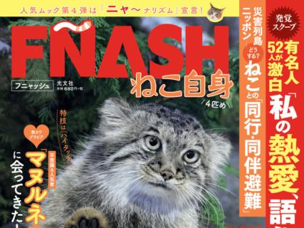 週刊誌FLASHの猫バージョン「FÑASH(フニャッシュ)」が爆誕!岡本玲など芸能人の愛猫も公開