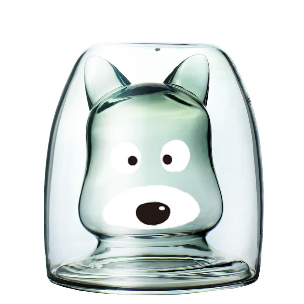 タマ&フレンズ「クロ」のグッドグラスを空にした状態