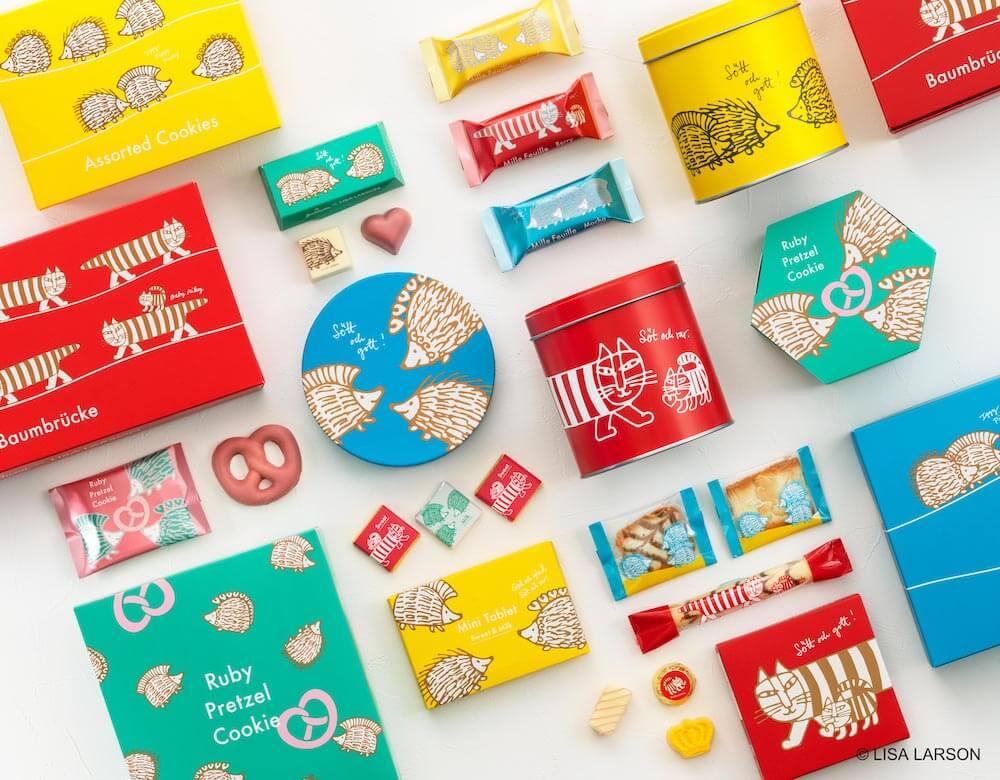 ユーハイム×リサ・ラーソンのコラボ商品パッケージ
