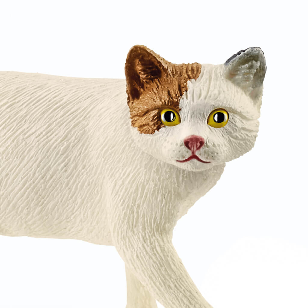 歩く三毛猫のフィギュア (拡大画像) by ドイツのフィギュアブランド「シュライヒ」