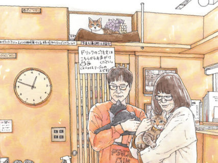 話題の猫本屋を描いたイラストも展示!看板猫がいるお店「東京猫びより散歩」の原画展が開催中