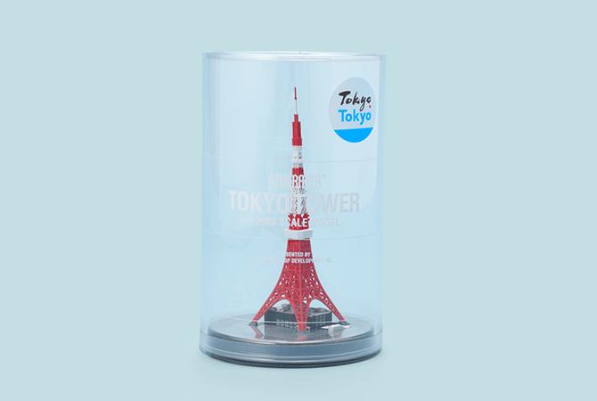 羽田空港の東京おみやげ専門店で販売されている「ジオクレイパー(東京タワー)」