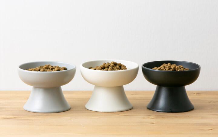 食品衛生法・ISO6486・EU指令84/500/EEC・FDAをクリアした猫用のフードボウル、全3色