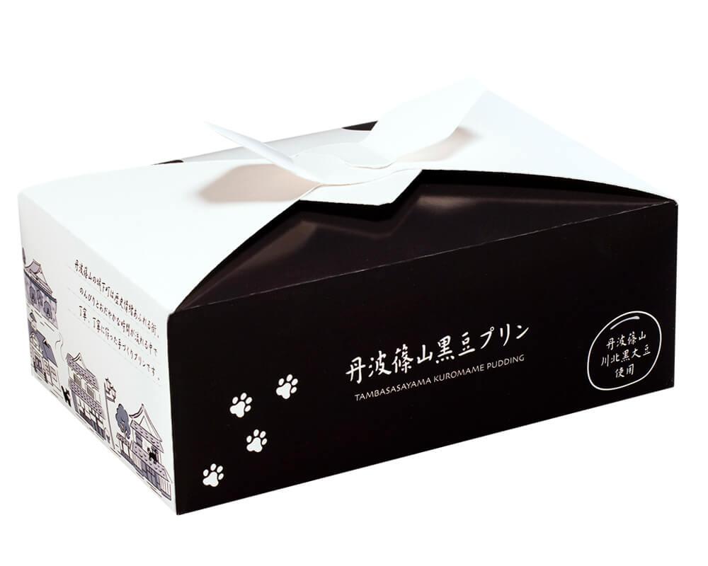丹波篠山黒豆プリンの製品パッケージ