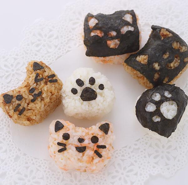「ネコのおにぎりセット」菊太屋米穀店