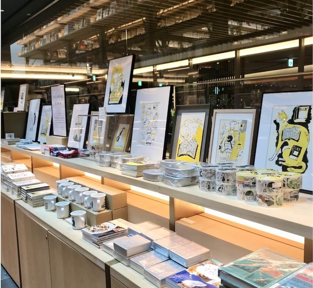 銀座蔦屋書店で開催されているトラネコボンボン(中西なちお)の原画展の展示風景 in GINZA SIX