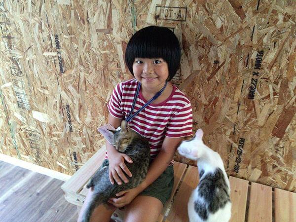 てしま旅館の「猫庭」で館長を務める姫萌ちゃん