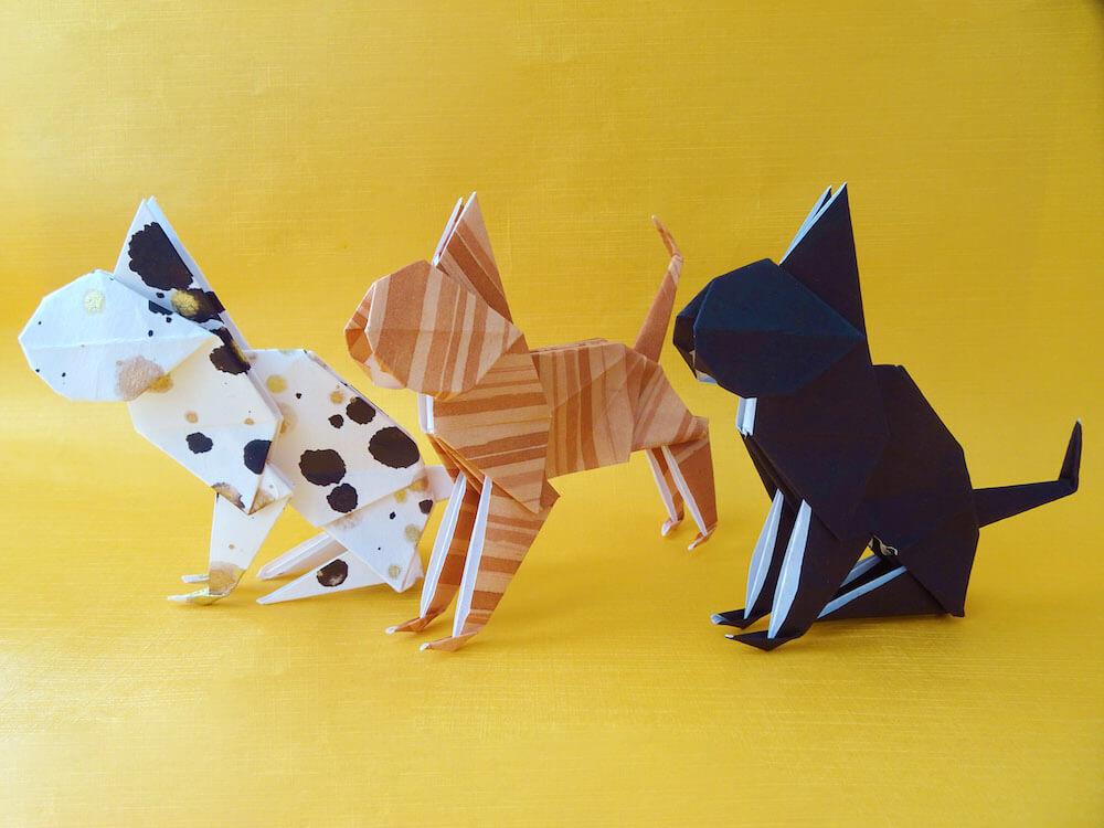 折り紙で折った猫 by お茶の水 おりがみ会館(和紙・折り紙)