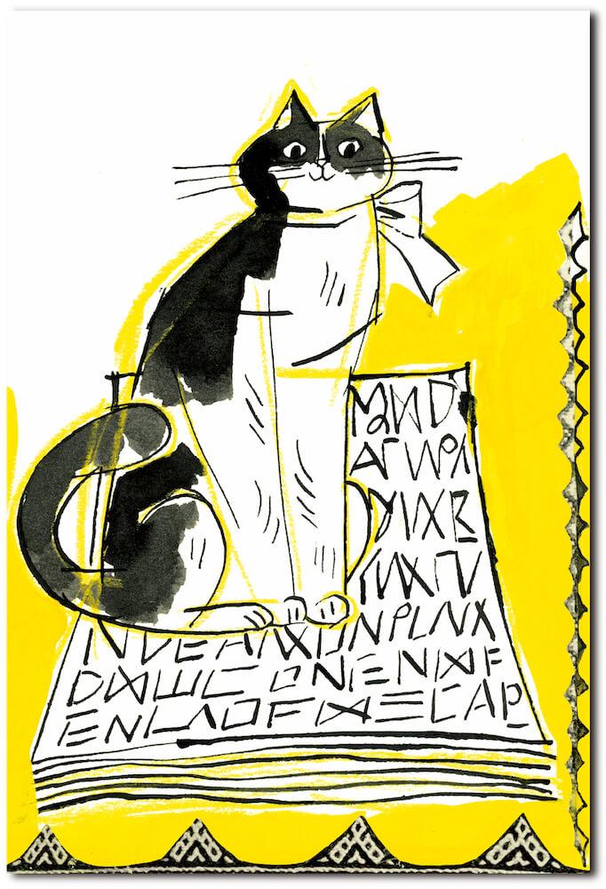 トラネコボンボンの文具セット「ポストカード」