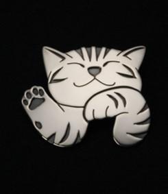 猫デザインのシルバーペンダント「Hellow ねこ」江口タツオ